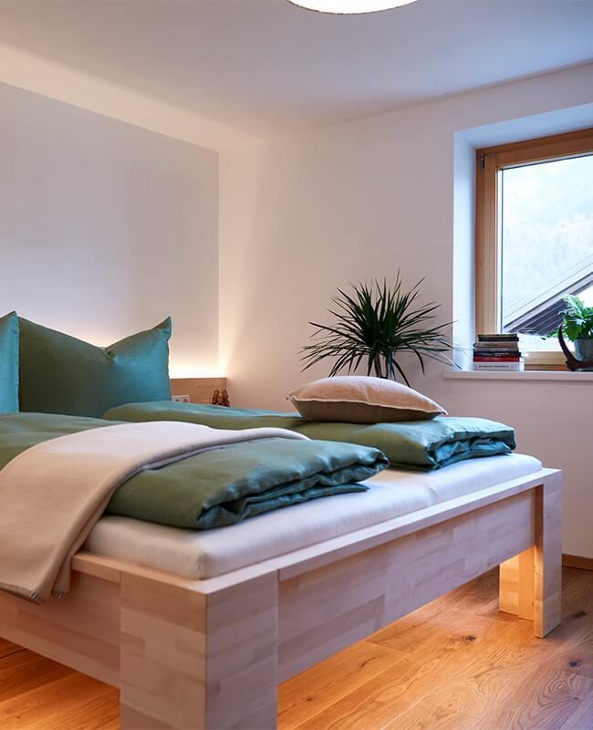 Haus Topa Vandans Montafon - Appartement Rosskopf - Schlafzimmer - Ferienwohnung Montafon